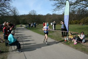 Andrea on the finishing line