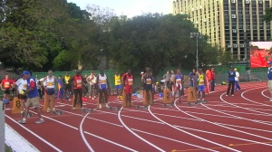 Donald Brown WMA 100m Semi Final